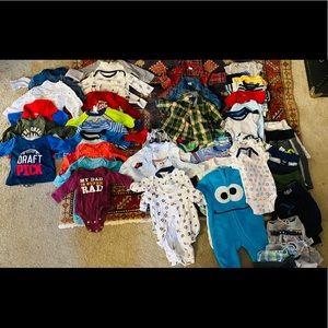 60 piece newborn baby boy clothes lot bundle 0-3m